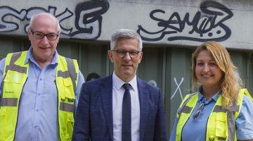 Aktiv für Stadtsauberkeit in Hagen: die Waste Watcher mit OBM Erik Schulz. (Quelle: Stadt Hagen/Michael Kaub)