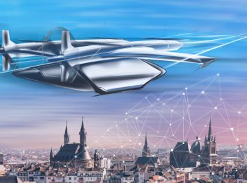 Die Stadt Aachen arbeitet an der Mobilität der Zukunft: Bald könnten Lufttaxen über der Stadt fliegen. (Quelle: Stadt Aachen/Braunwagner GmbH)