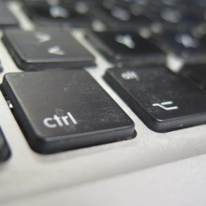 Wer hat die Kontrolle über Software und Daten? Das BIld zeigt die Control-Taste einer Computertastatur. (Quelle: Andreas Erb)
