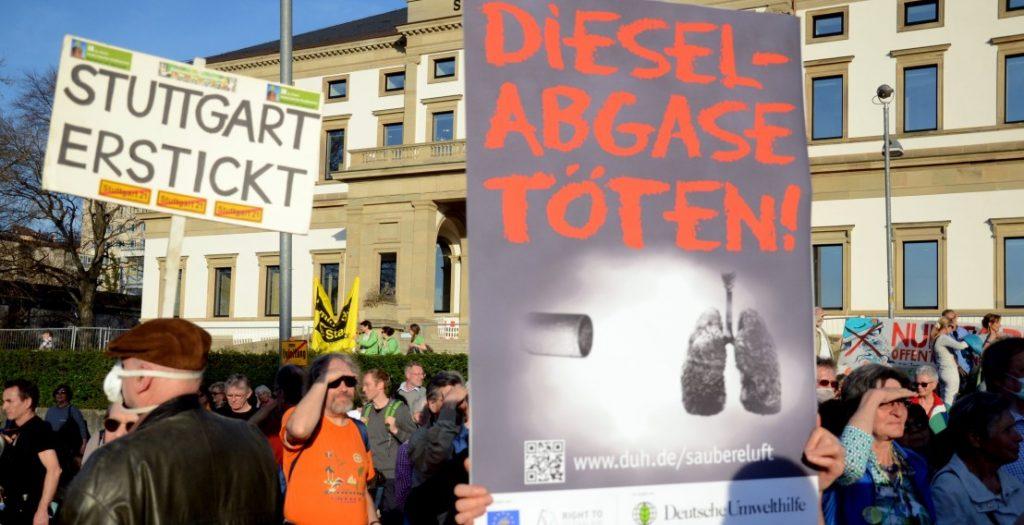 Demo für Luftreinheit und Dieselfahrverbote 2017 in Stuttgart (Quelle: Deutsche Umwelthilfe/Wolfgang Rueter)