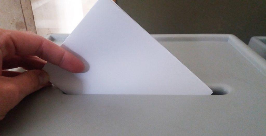 Wahlzettel (Quelle: Stadt Neu-Ulm)