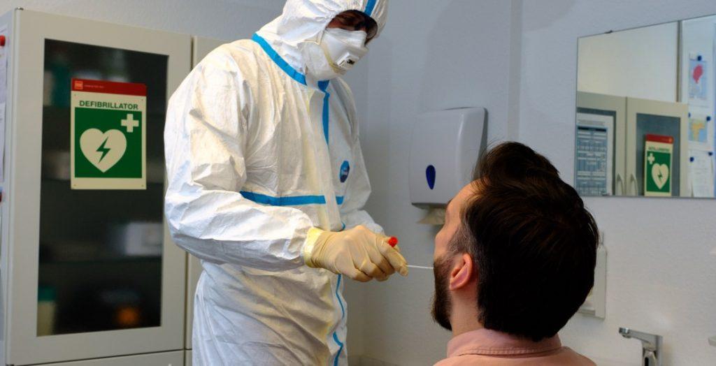 Test auf den Coronavirus, Düsseldorf (Quelle: Landeshauptstadt Düsseldorf/Uwe Schaffmeister)