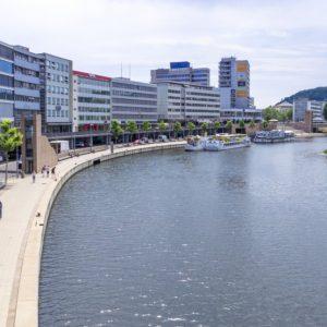 Nahe dran an Frankreich: die Berliner Promenade in Saarbrücken. (Quelle: Landeshauptstadt Saarbrücken/Anika Colubus)