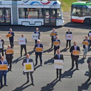 Die Unterzeichner des Elf-Punkte-Plans (Quelle: Stadt Bochum/Andre Grabowski)