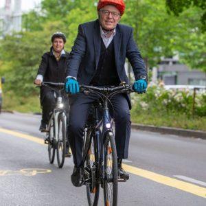 Pop-Up-Bike-Lane (Quelle: Landeshauptstadt Stuttgart/Leif-Hendrik Piechowski)