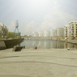 Hafenbecken in Offenbach (Quelle: Stadt Offenbach am Main/Andrea Ehrig)