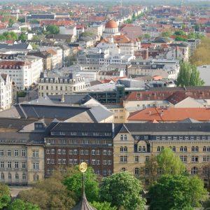 Blick vom Turm des Neuen Rathauses in Leipzig (Quelle: Stadt Leipzig)