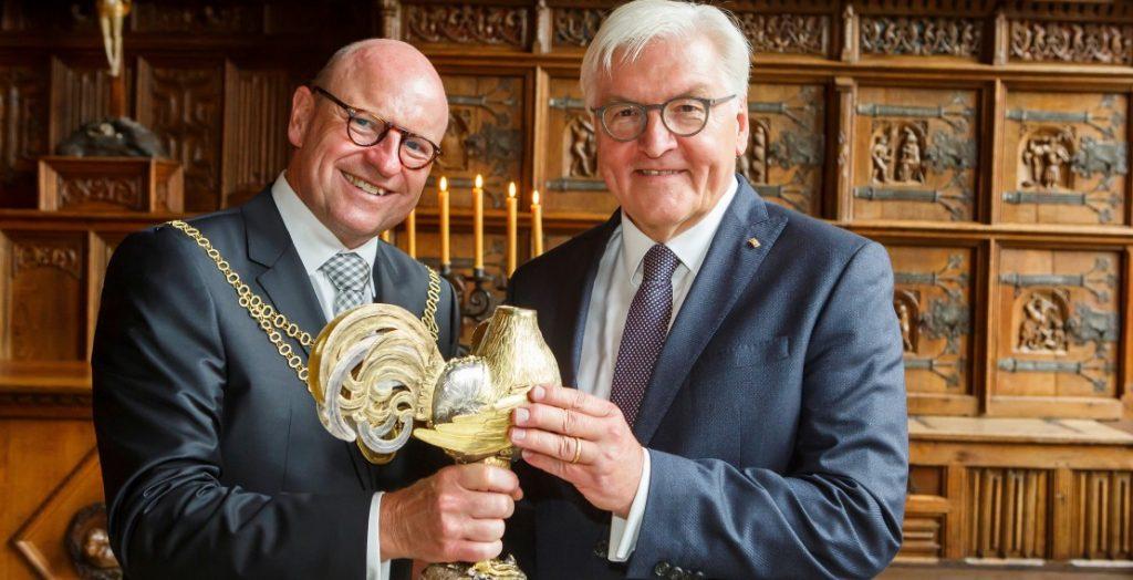 Markus Lewe (links) und Frank-Walter Steinmeier (Quelle: Stadt Münster)