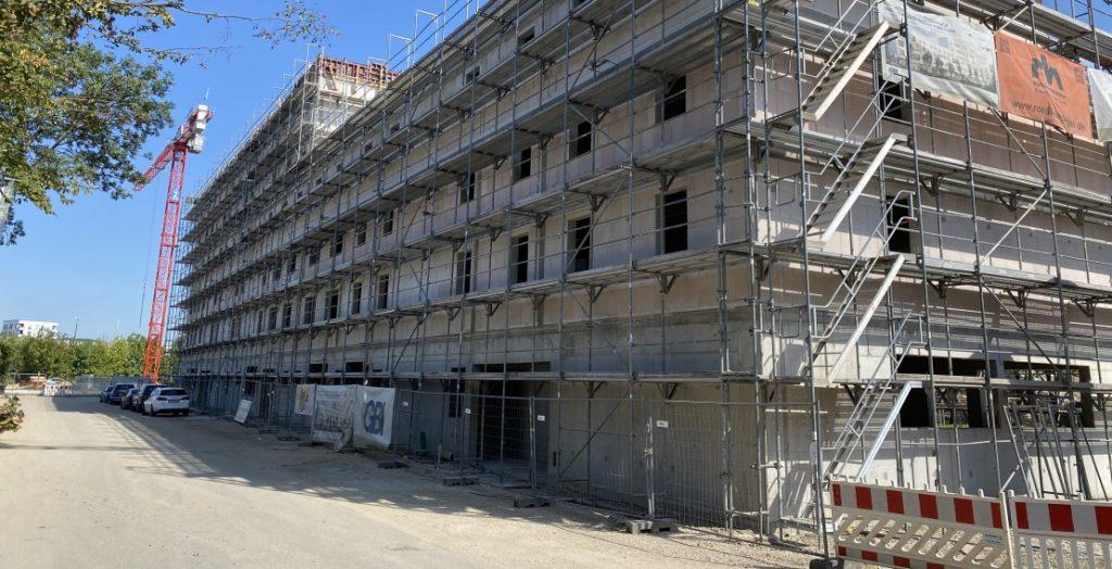 Bauprojekt Regensburg Rohbau (Quelle: GBI Holding AG)