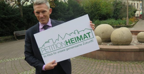 Petition Heimat: Landrat Ralf Leßmeister will die breite Bevölkerung für die kommunale Finanzsituation sensibilisieren. (Quelle: Andreas Erb)