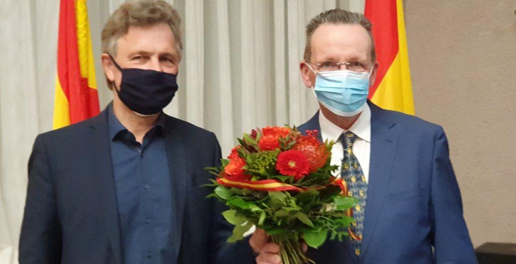 Frank Mentrup, Albert Käuflein (Quelle: Stadt Karlsruhe/Fränkle)