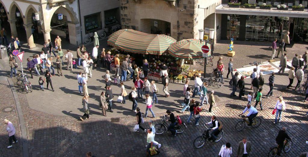 Münster Altstadt (Quelle: Stadt Münster/Presseamt/Tilmann Roßmöller)