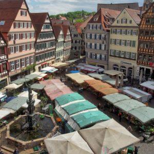 Wochenmarkt Tübingen (Quelle: Stadt Tübingen/Ulrich Metz)