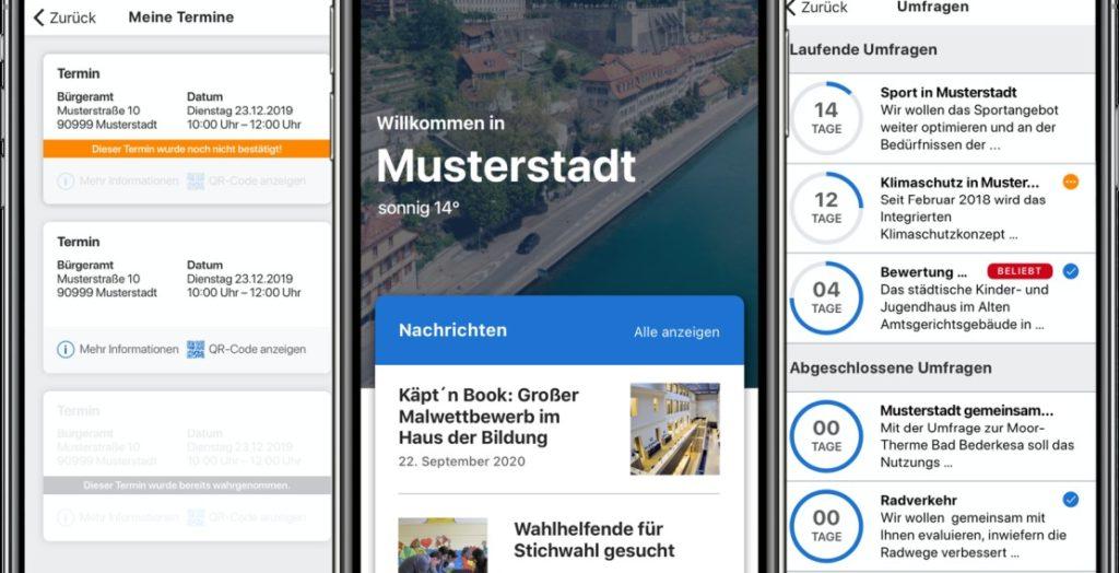 Citykey Screens (Quelle: Telekom)