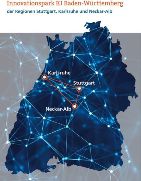 Gemeinsamer Auftritt als Genossenschaft: Deckblatt der Bewerbung um den KI-Innovationspark. (Quelle: TechnologieRegion Karlsruhe)