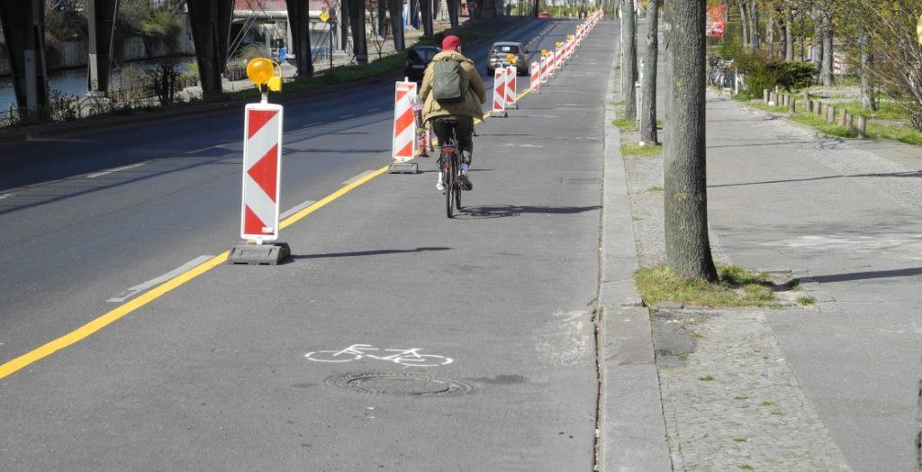 Popup-Radweg Berlin (Quelle: ADFC/Tosic)