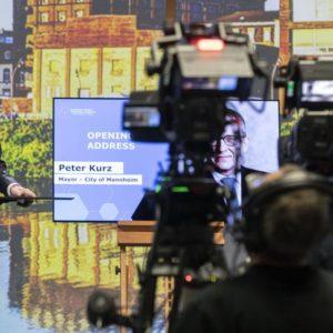 OBM Peter Kurz beim EUSES (Quelle: Stadt Mannheim)