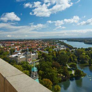 Hannover, Blick von Rathauskuppel (Quelle: visit-hannover/HMTG/Christian Wyrma)
