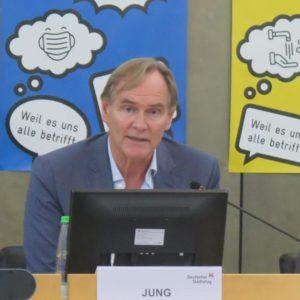 Burkhard Jung (links), Eckart Würzner (Quelle: Andreas Erb)